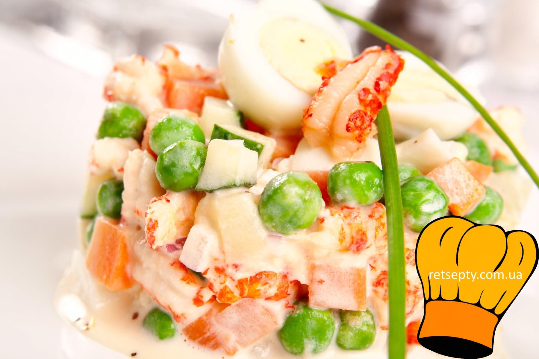 Спосіб приготування салату Олів'є з червоною рибою