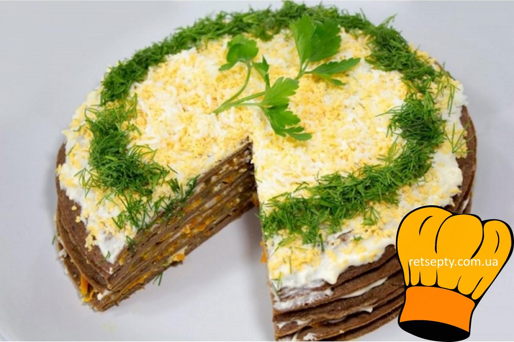 Торт з печінки