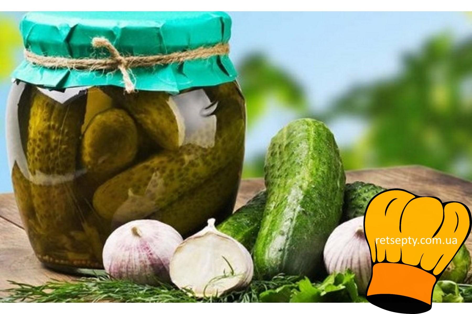 Рецепт консервування огірків в гарбузах