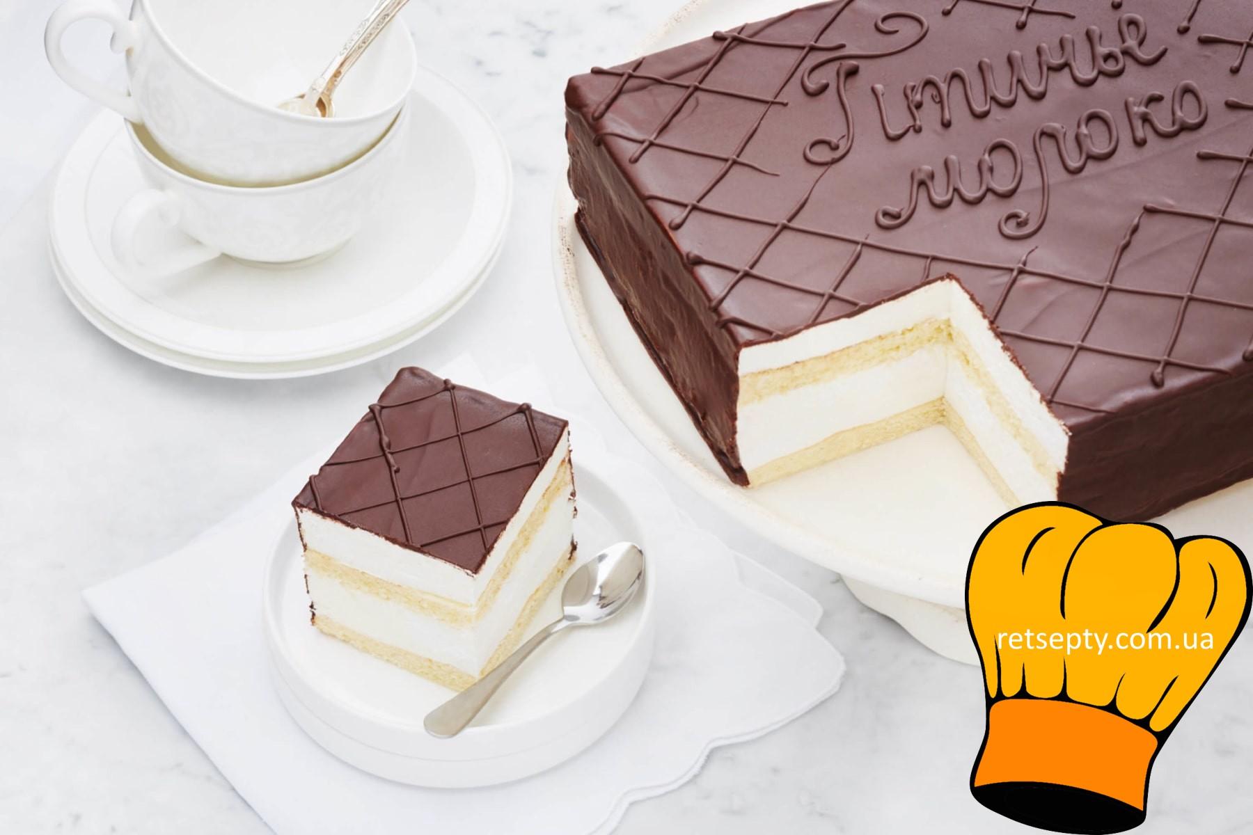 Торт птичье молоко – очень вкусно