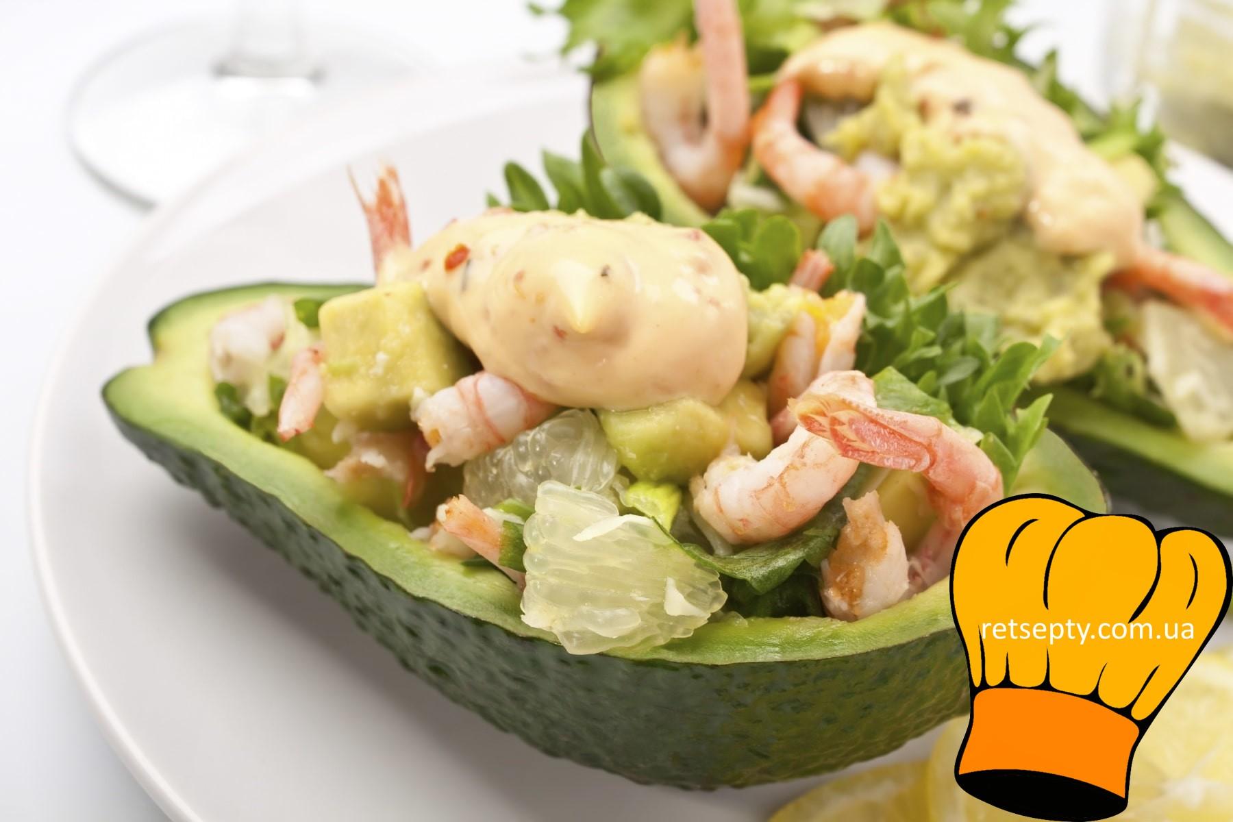 Справжній французький салат Олів'є з креветками